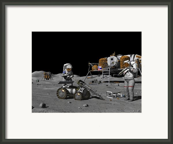 Moon Exploration, Artwork Framed Print By Walter Myers