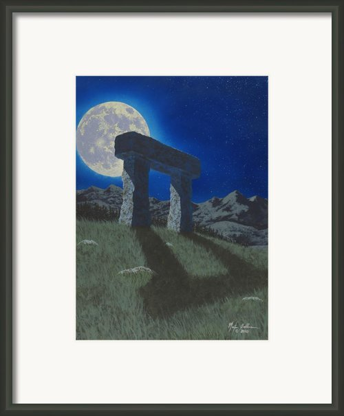 Moon Gate Framed Print By Martin Bellmann