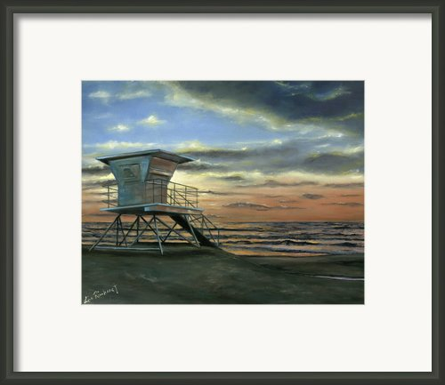 Moonlight Sunset Framed Print By Lisa Reinhardt