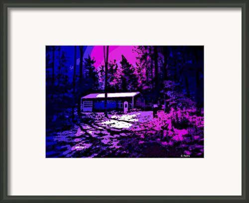 Moonlit Winter Night In The Poconos Framed Print By George Pedro