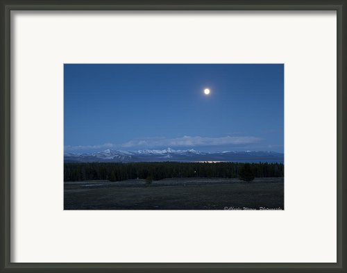 Moonrise At Fishing Bridge Framed Print By Charles Warren