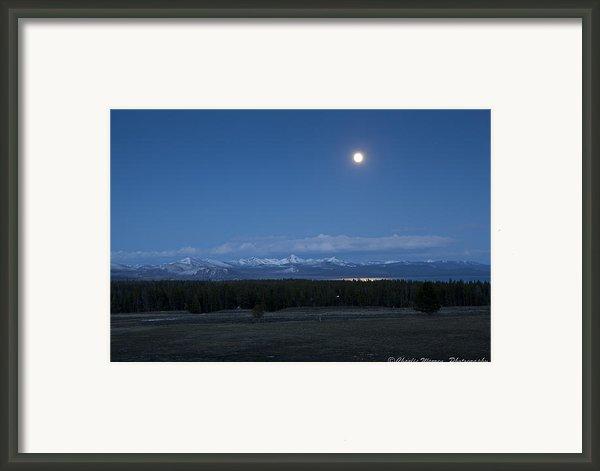 Moonrise At Fishing Bridge Framed Print By Charles Warren