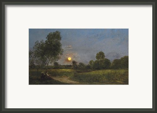 Moonrise Framed Print By Charles Francois Daubigny