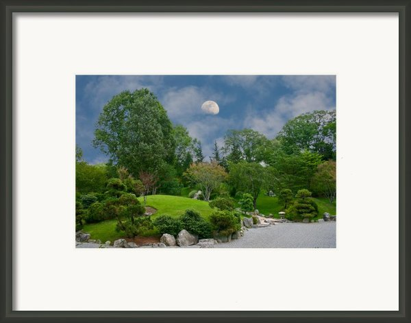 Moonrise Meditation Framed Print By Charles Warren