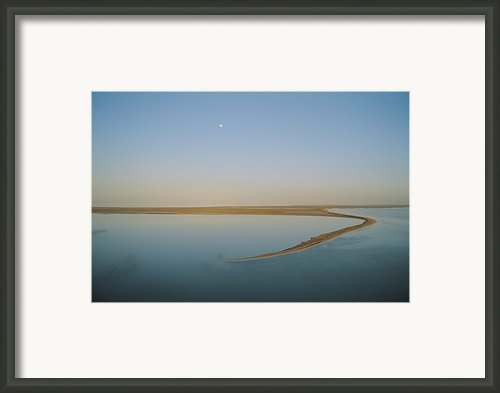 Moonrise Over Flooded Lake Framed Print By Jason Edwards