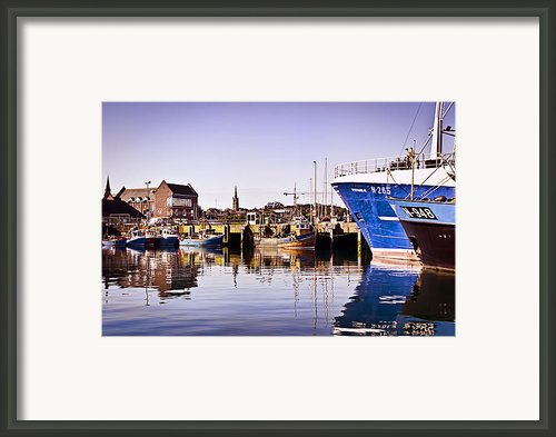 Moored Up Framed Print By Chris Cardwell
