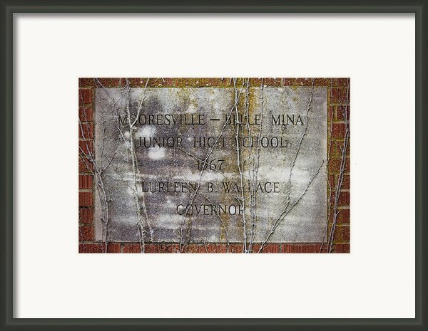 Mooresville - Belle Mina Junior High School 1967 Framed Print By Kathy Clark