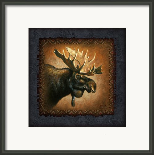 Moose Lodge Framed Print By Jq Licensing