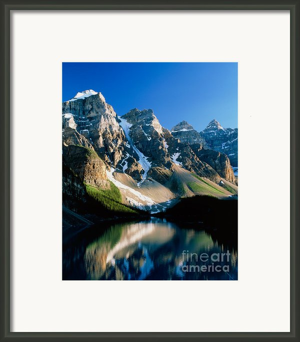 Moraine Lake Framed Print By David Nunuk
