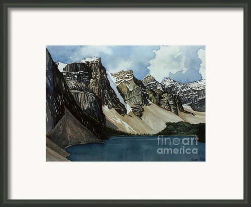 Moraine Lake Framed Print By Scott Nelson