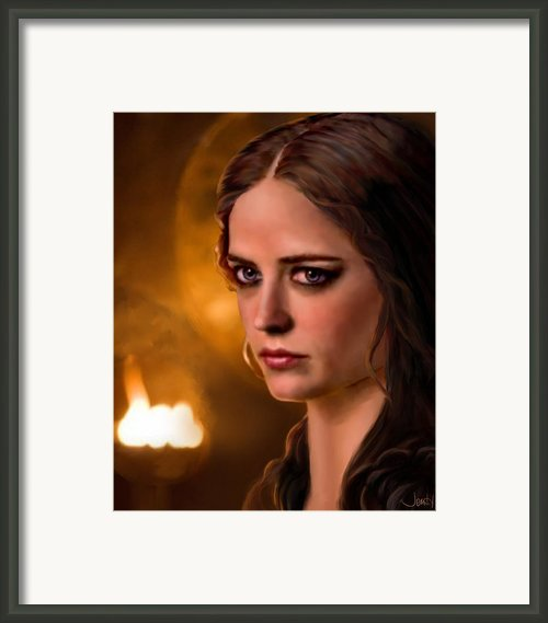 Morgan Pendragon Eva Green Framed Print By Jennifer Hickey