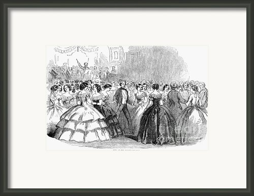 Mormon Ball, 1857 Framed Print By Granger