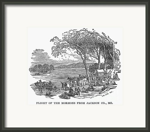 Mormon Flight, 1833 Framed Print By Granger