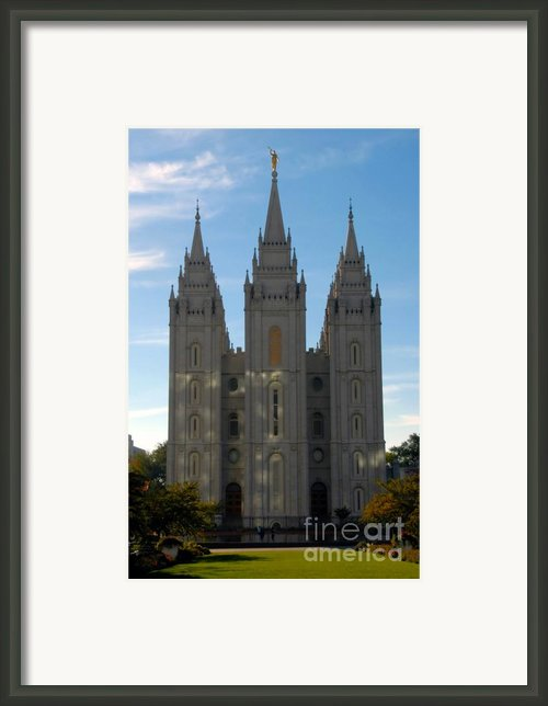 Mormon Temple Fall Framed Print By David Lee Thompson