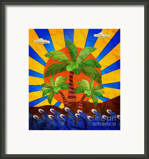 Morning At The Beach. Framed Print By Suwit Ritjaroon