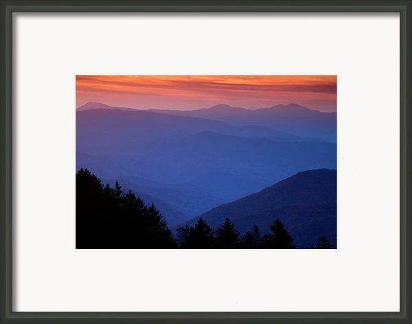 Morning Colors In The Smokies Framed Print By Andrew Soundarajan