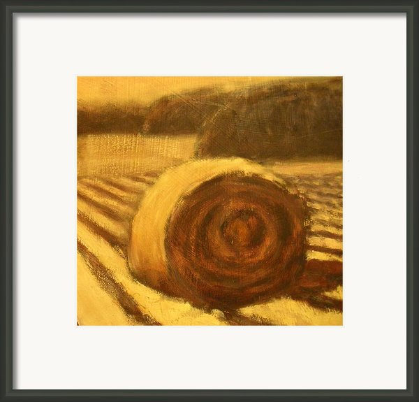 Morning Haybale Framed Print By Jaylynn Johnson