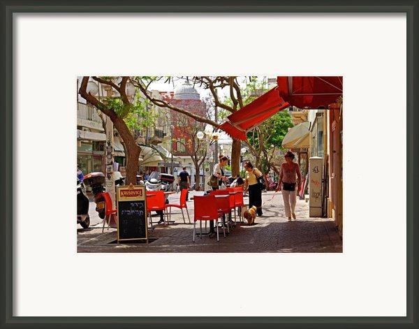 Morning On A Street In Tel Aviv Framed Print By Zalman Lazkowicz
