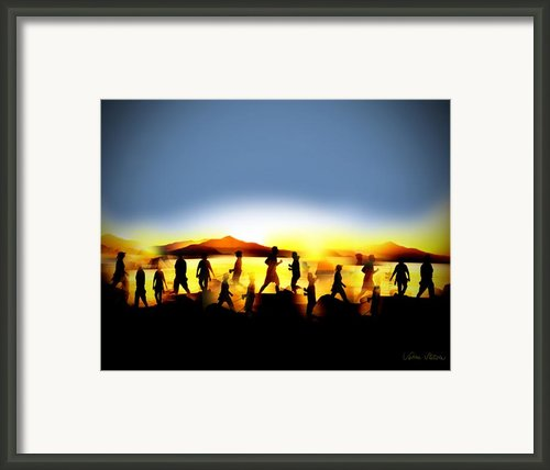 Morning Routine Framed Print By Sabine Stetson