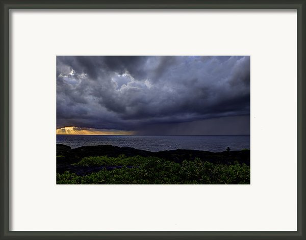Morning Squall Framed Print By Mike Herdering