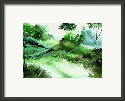 Morning Walk 1 Framed Print By Anil Nene