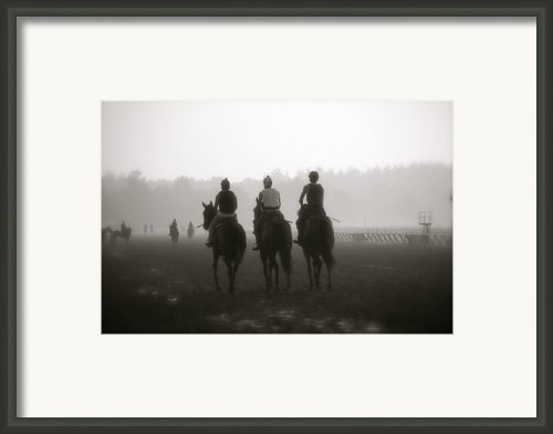 Morning Workout Saratoga Ny Framed Print By Amanda Lonergan