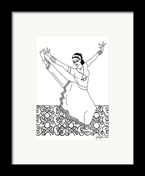 Moroccan Dancer Framed Print By John Keaton