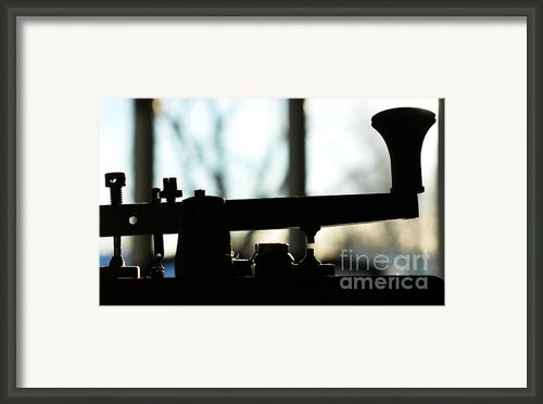 Morse Code Love Framed Print By Anahi Decanio Photography