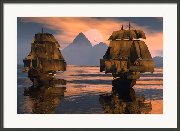 Mortal Enemies Framed Print By Claude Mccoy