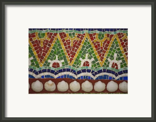Mosaic Fountain Pattern Detail 4 Framed Print By Teresa Mucha