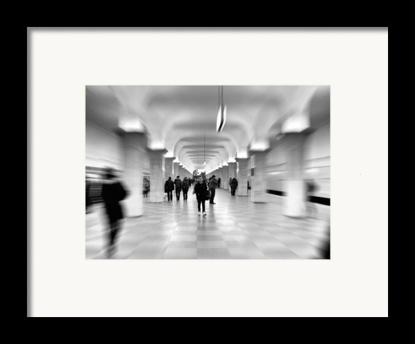 Moscow Underground Framed Print By Stylianos Kleanthous