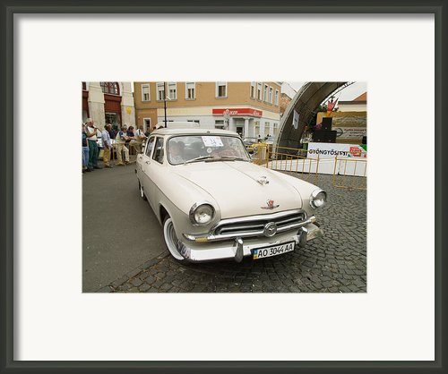 Moscvich Car Framed Print By Odon Czintos