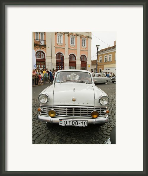 Moscvich Old Car Framed Print By Odon Czintos