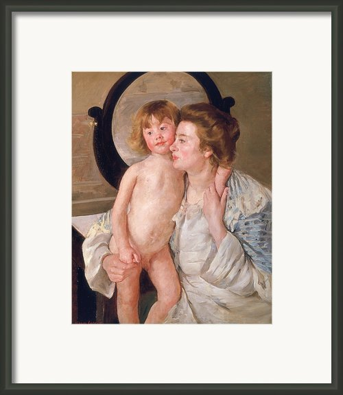 Mother And Boy Framed Print By Mary Stevenson Cassatt