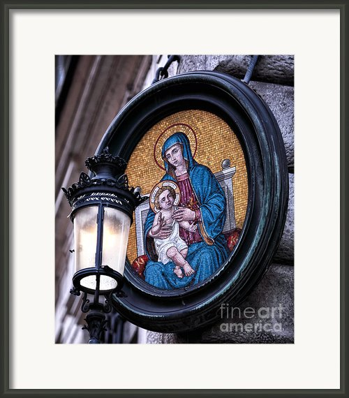 Mother And Child Framed Print By John Rizzuto