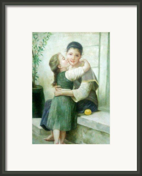 Mother And Daughter Framed Print By Unique Consignment