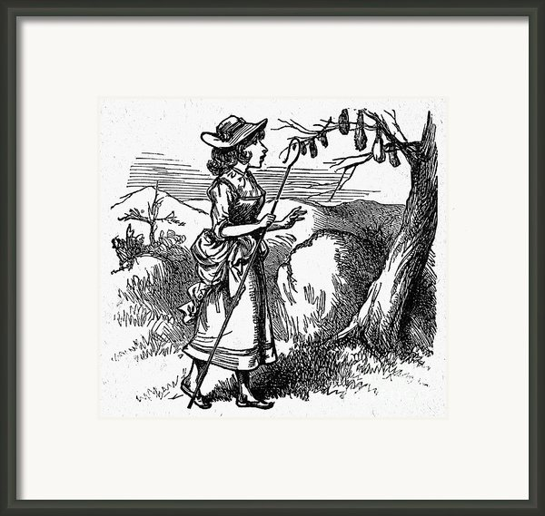 Mother Goose: Bo-peep Framed Print By Granger