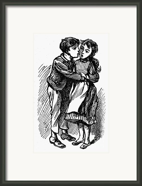 Mother Goose: Kiss Framed Print By Granger