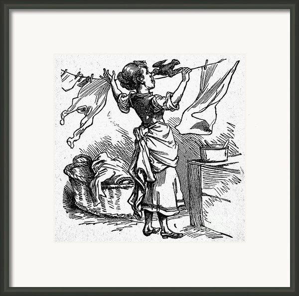 Mother Goose: Maid Framed Print By Granger