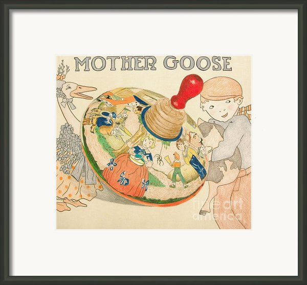 Mother Goose Spinning Top Framed Print By Glenda Zuckerman