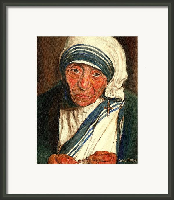 Mother Teresa  Framed Print By Carole Spandau