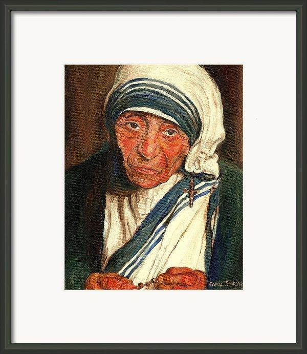 Mother Teresa  Framed Print By Carole Spandau