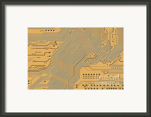 Motherboard - Printed Circuit Framed Print By Michal Boubin