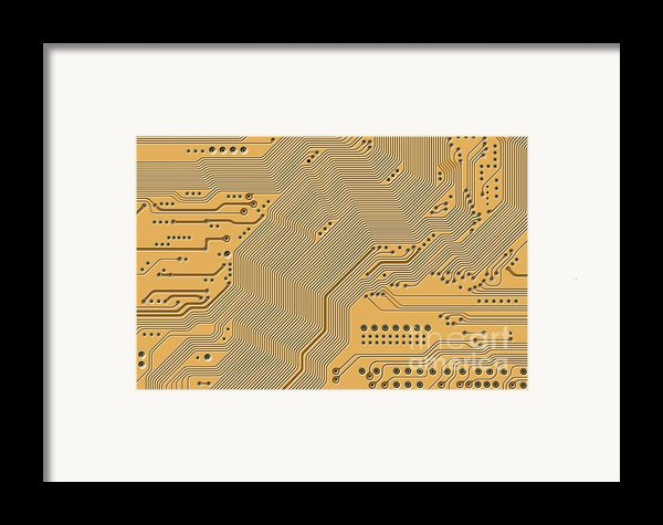 Motherboard - Printed Circuit Framed Print By Michal Boubin