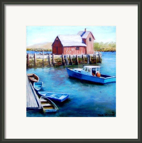 Motif One Rockport Harbor Framed Print By Jack Skinner