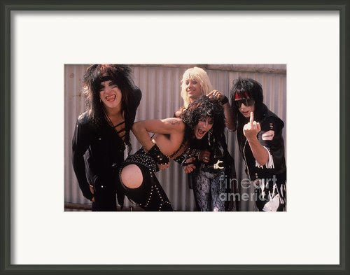 Motley Crue Framed Print By David Plastik