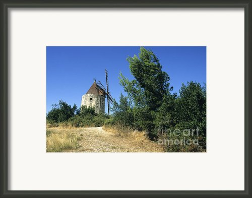 Moulin Of Daudet. Fontvieille. Provence Framed Print By Bernard Jaubert