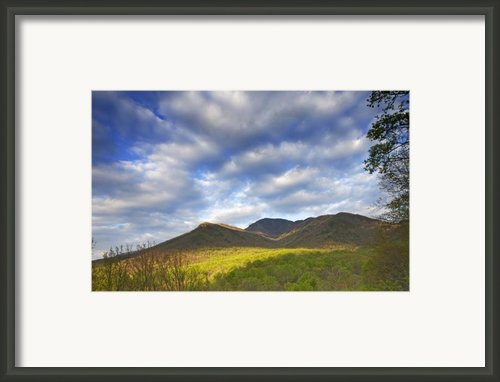 Mount Leconte In Great Smoky Mountains National Park Tennessee Framed Print By Brendan Reals