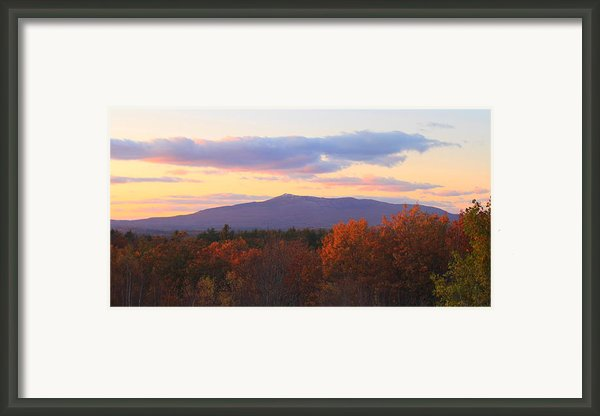 Mount Monadnock Autumn Sunset Framed Print By John Burk