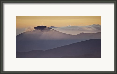 Mount Pisgah In Morning Light - Blue Ridge Mountains Framed Print By Rob Travis